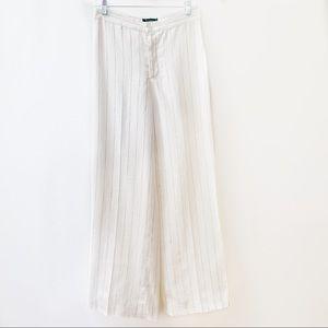 LAUREN Ralph Lauren Linen Pinstripe Wide Leg Pants